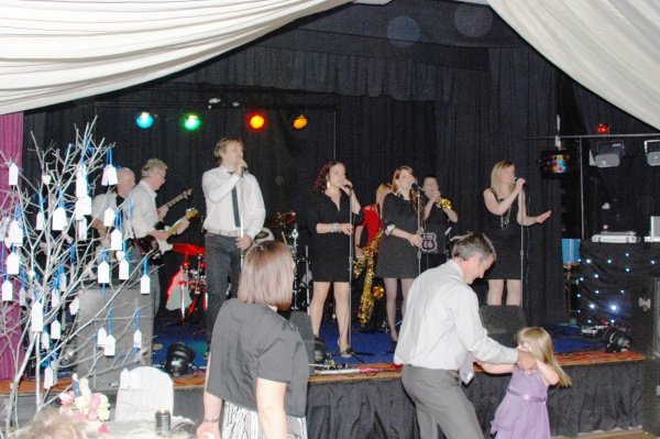 Wedding band at Ashover Parish Hall