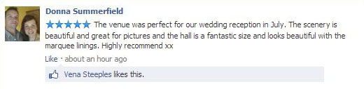 Donna's wedding comments