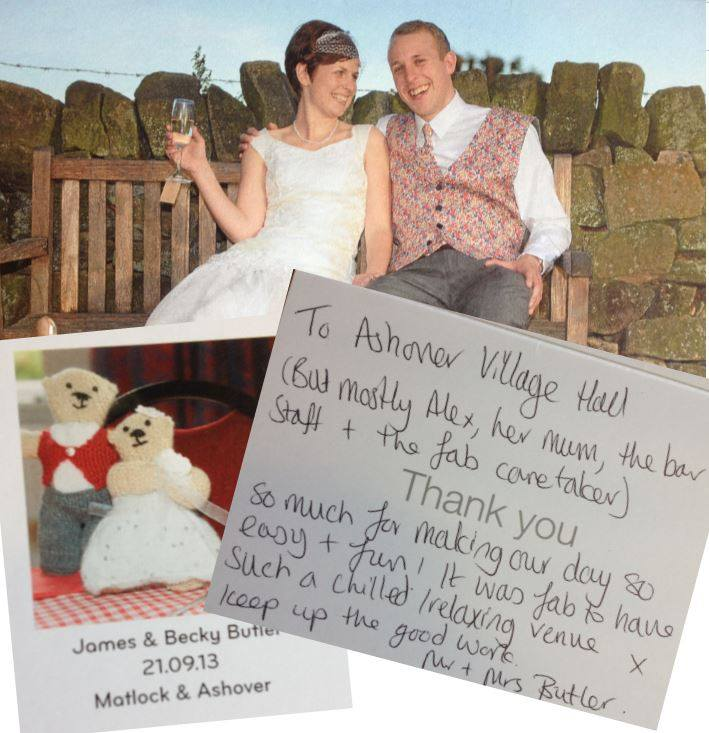 Becky and James married at the centre last summer
