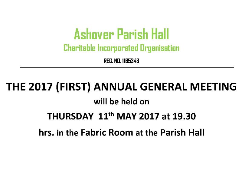 Ashover Parish Hall AGM