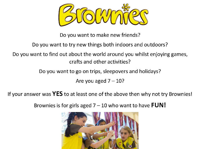 The Ashover Brownies Are Recruiting