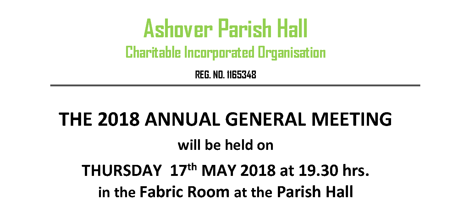 Ashover Parish Hall AGM