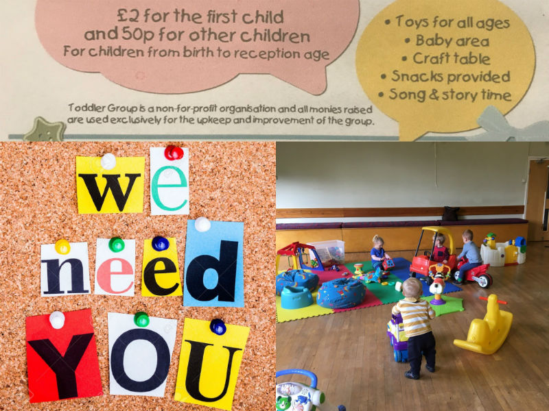 The Tots n Tinies Playgroup Needs You…..